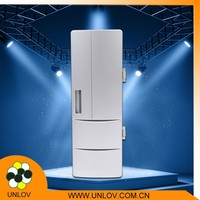 high quality mini USB fridge , desktop USB cooler&warmer for drink with low power and lower price