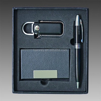 2015 hot genuine leather gift items, best Gift Set for father