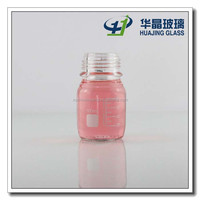 100ml clear glass laboratory reagent bottle with scale and screw cap