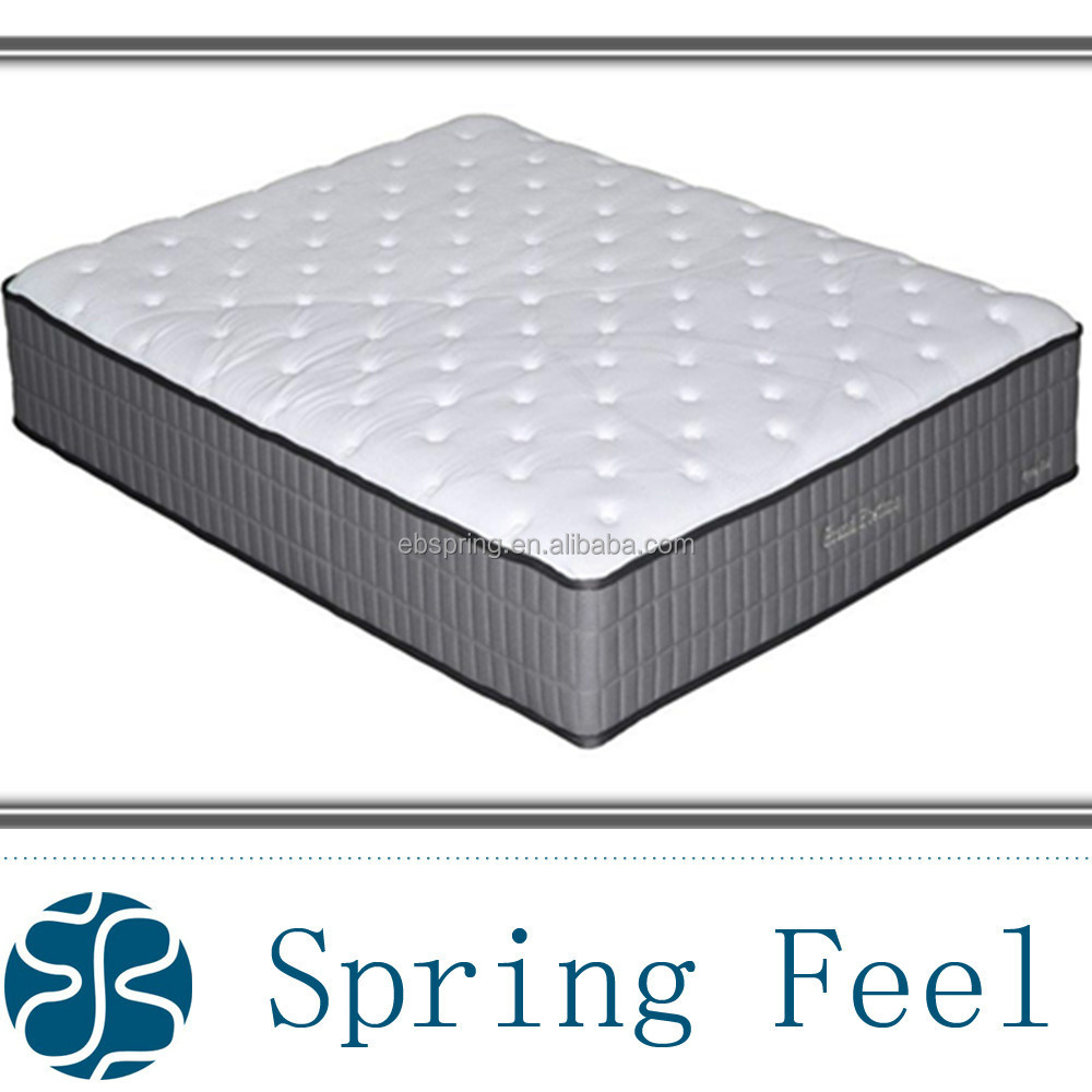 Pocket spring Latex foam mattress bedroom bed in a box