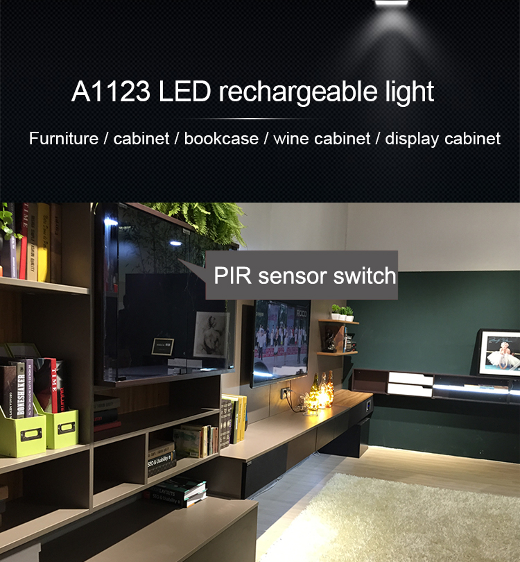A1123 Fashion Design Rechargeable Battery With Magnet Mount Led Puck Light Led Cabinet Light