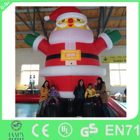 Indoor decoration cheap christmas santa claus inflatable