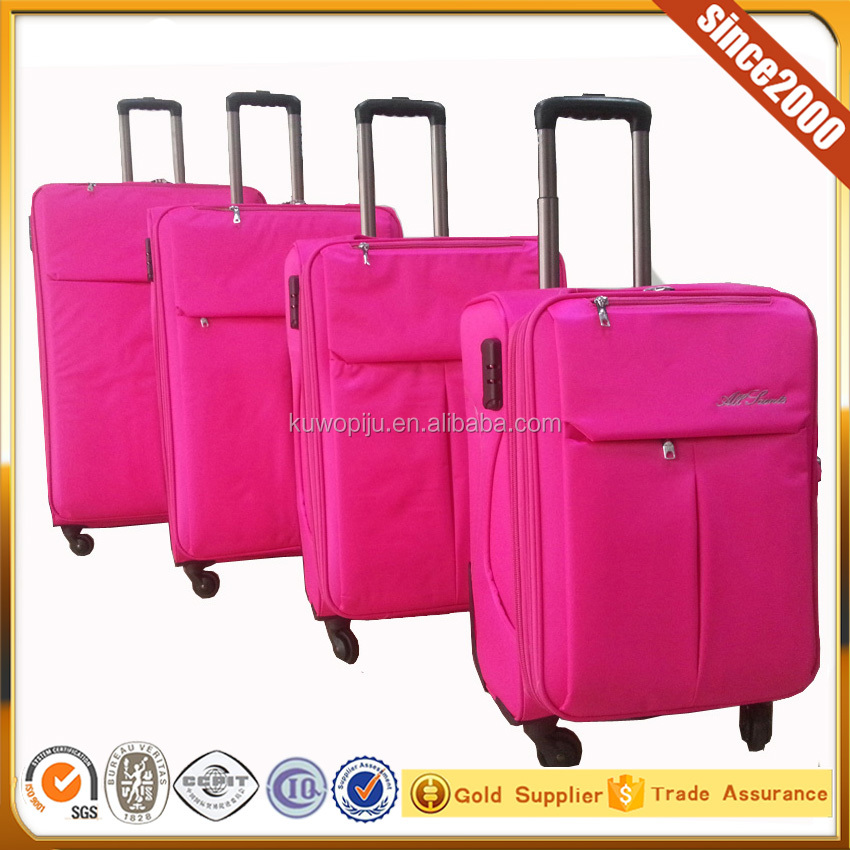 pink color high tech 4 pcs on line luggage sets