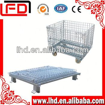famous brand storage cage metal boxes to wire mesh container