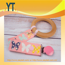 New Product Food Grade silicone baby pacifier chain clip,soft baby teether toys