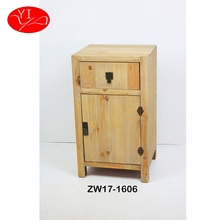 Custom high quality Fir Wood Handmade Wooden storage Cabinet Small Drawer