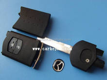 Original ! Mazda flip remote 2 buttons key case shell , key cover blank
