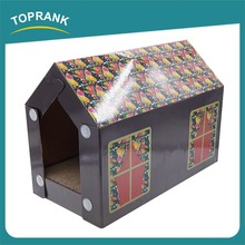 New OEM China Pet Product cardboard cat scratcher house