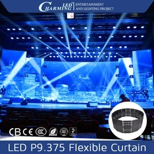 led waterfall curtain light flexible display screen for stage hotel disco rent