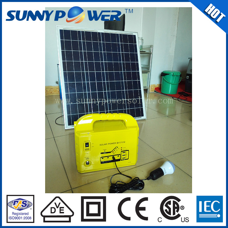 2015 new design samll 100w solar systems with ups charger