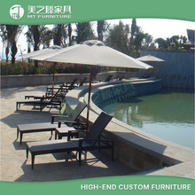 Renaissance Sanya Resort & Spa Supplier All Weather UV Resistant Poolside Garden Patio Rattan Chaise Sun Lounger