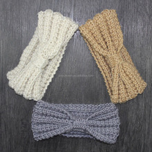 New arrival warm winter knitting wool headband fashion knot tying headband for women