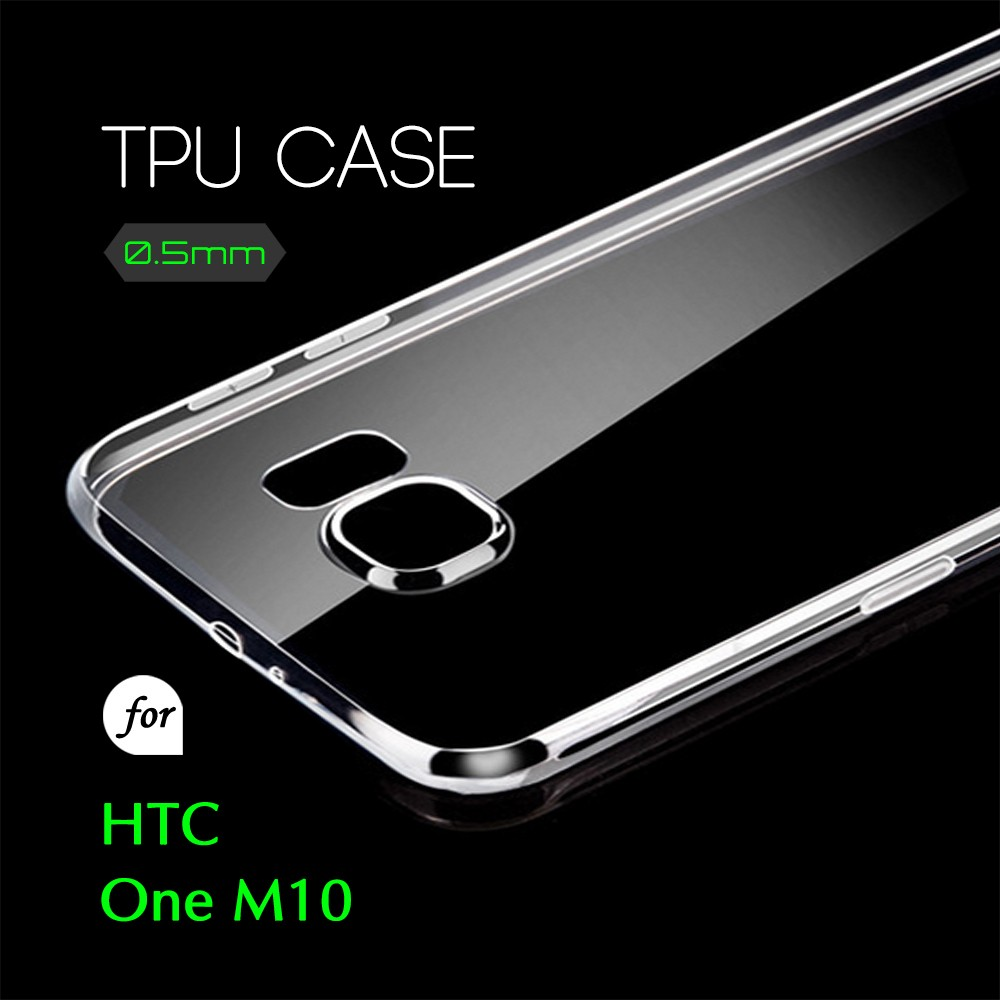 0.5mm Ultra Thin TPU Transparent Clear Protective Case for HTC One M10