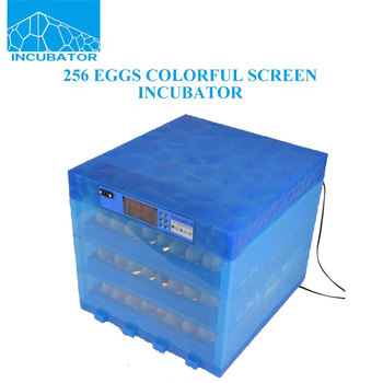 256 Eggs 2017 New product Automatic Variable capacity Color screen Egg Incubator
