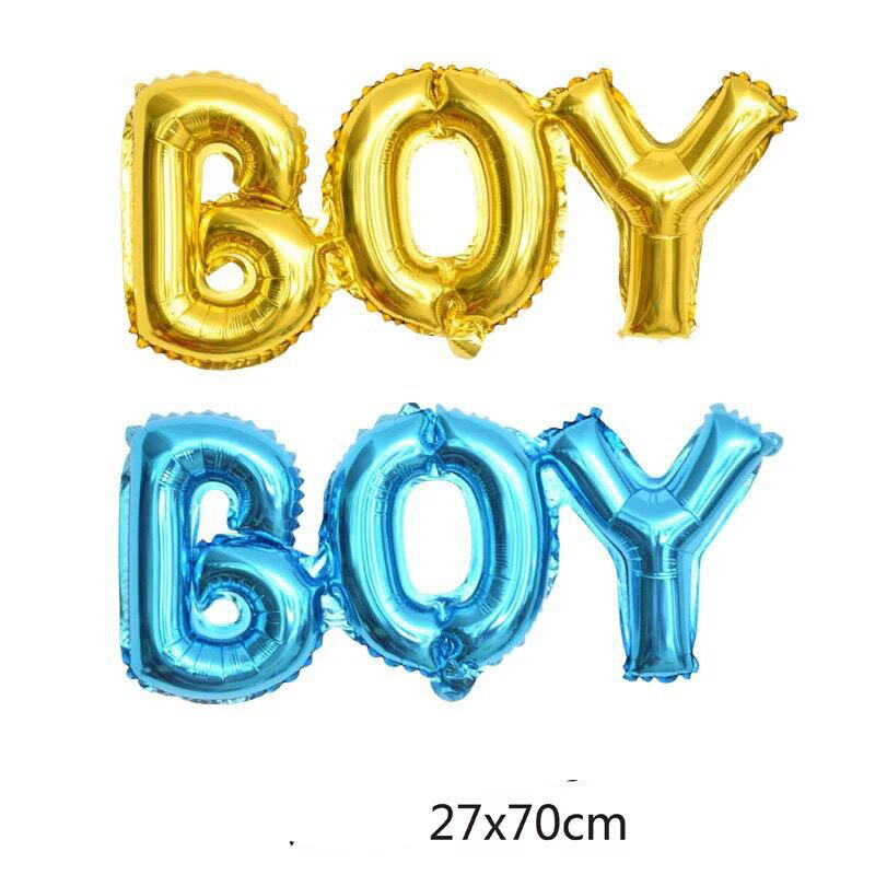 Rose Gold Boy Girl Aluminium Foil Letter Ball Baby Shower Gender Reveal Birthday Party Decoration  Supplies Balloons