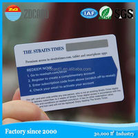 Standard prepaid scratch Rfid Access Control Card With Different Chips