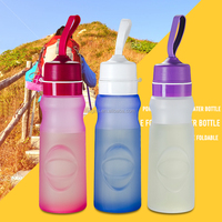 cheap drinking water bottle silicone sport foldable water bottle