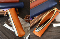 Custom Handmade Vegetable Tanned Italian Leather Pen Bag Pencil Case Pen Pouch D052