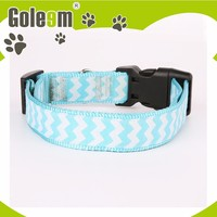 2016 Latest Design Eco-Friendly Dog Pet Products Polyester Satin Padded Dog Collar