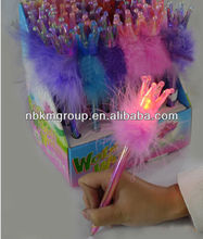 hot flashing crown feather pen