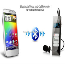 Wireless Bluetooth Digital Voice Recorder support telephone answering and redialing