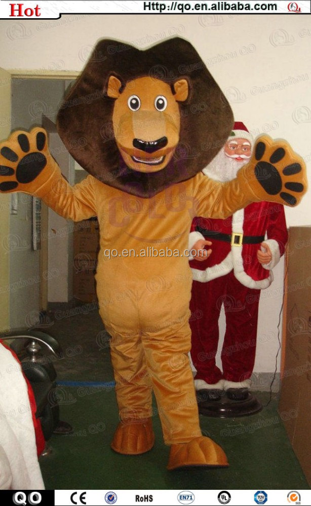 2015 Newest customized vivid adult madagascar alex the lion mascot costume