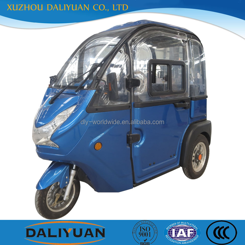Daliyuan mini passenger adult tricycle closed e-tricycle