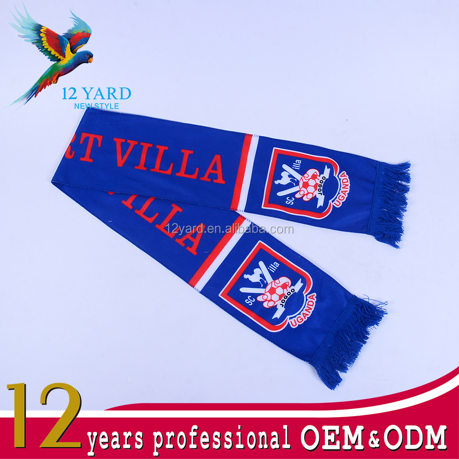 comfortable sport fans shawl/ heated transfer print soccer scarf