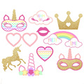 New Arrival Unicorn Birthday Cake Theme Party Decorations Lovely Cake topper cake pick