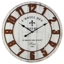 """FLEUS"" IRON/WOODEN WALL CLOCK"