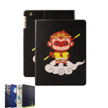 Cartoon design Pu leather Ultra thin magnetic sleep/wake fuction color printing tablet case for Ipad 2