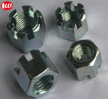 TS 16949 M12*1.5 Female Thread 35K steel Hex Slotted Castle Nuts