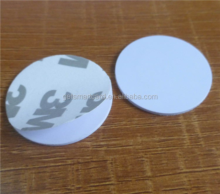 Custom design 25mm round nfc sticker NTAG213 chip 144 usable bytes of data