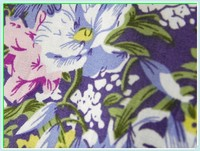 Flower cotton printed poplin fabric for bed sheet
