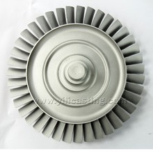 high precision nickel base alloy lost wax castings turbine wheel/disc for gas turbine engine parts
