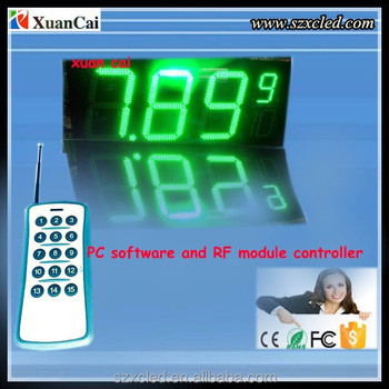 LED price sign 8 inch Gas station Sign/ LED digital display board
