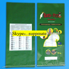 BOPP laminated PP woven pig feed bag/chicken feed sack