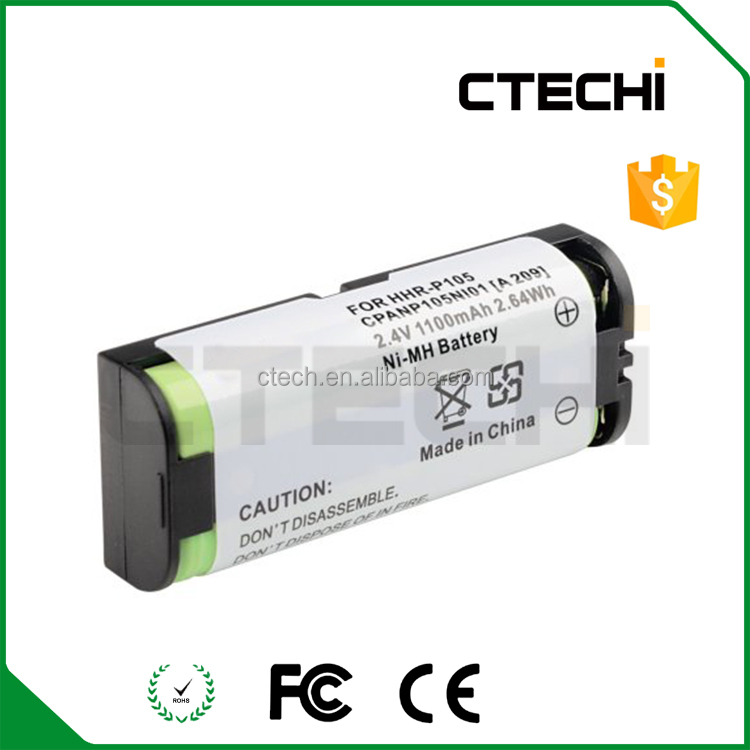 Cordless phone Batteries Pack HHR-P105 2.4V 1100mah Rechargeable Battery