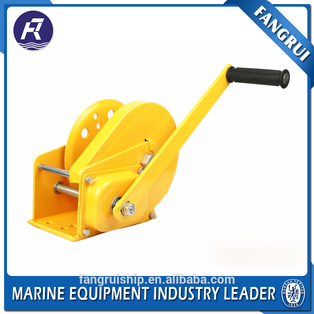 Useful hand tractor winch with brake
