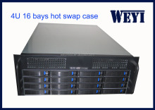 16 bay 4U storage rack server case, CCTV DVR rackmount hot swap