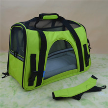 Oxford Breathable Outdoor Pet Carriers Bag Fleece Bed For Dog Cat Car Seat Bag
