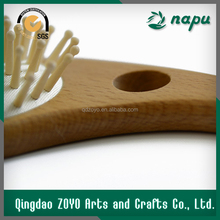 Bulk Buy From China Multicolor Custom Wooden Paddle Hair Brush