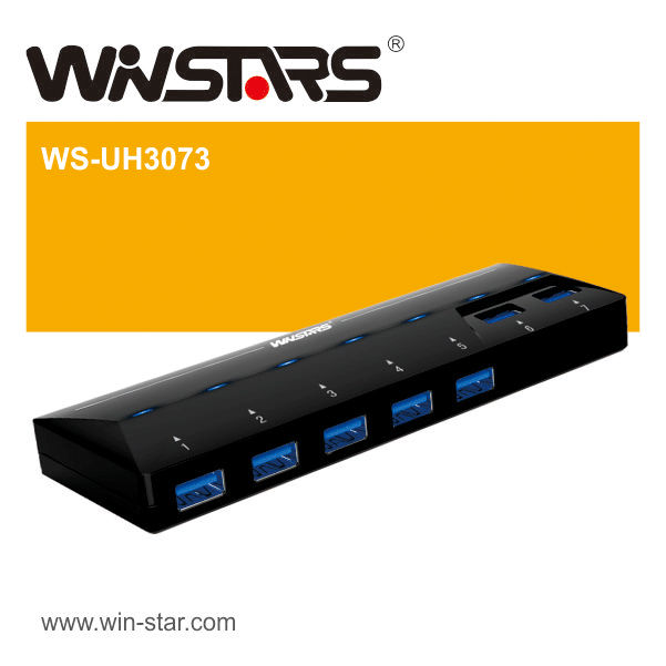 USB 3.0 7 Port hubs, super speed 5Gbps usb hub with Plug-n-Play hot swappable
