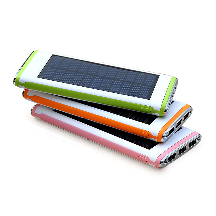 2018 new products 12000mAh high capacity solar power bank universal external battery pack portable USB charger for cell phone