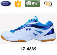 New arrival PU upper rubber outsole fashion men's breathable anli-slip badminton shoes men professional badminton sport shoe