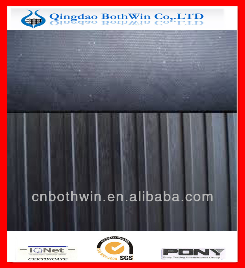 oil-proof wide ribbed Rubber Sheets/rubber flooring mats