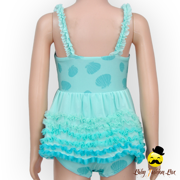 YZA-008 Yiwu Yihong New Arrive Baby Bikini Printed Cartoon Lace Ruffle Dress Harness Girls Infant Swimwear Picture