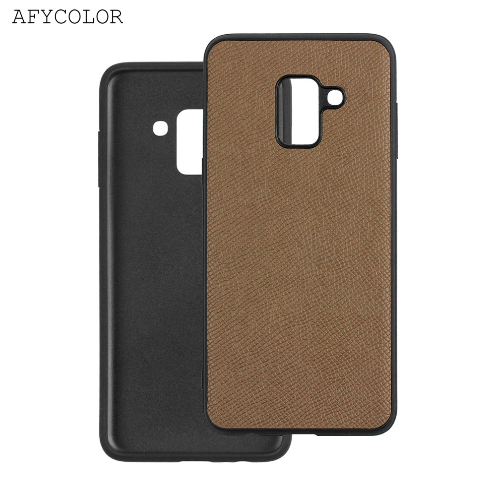 Wholesale custom leather design TPU+PC cell phone case for samsung galaxy a8
