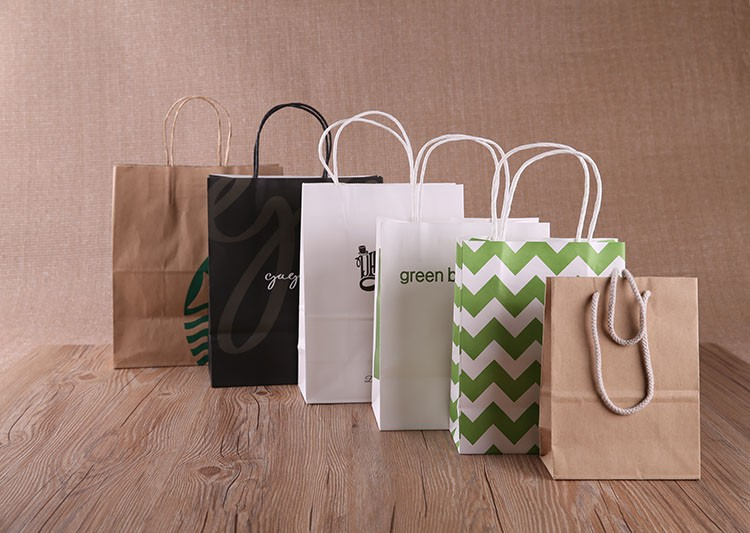 high quality white paper bag