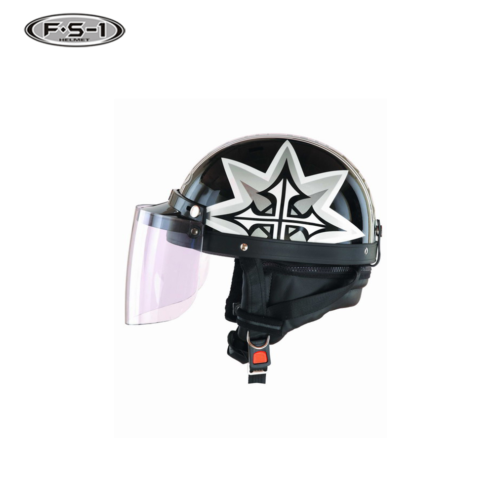 DOT certification decals half face moto helmets for ladies scooter helmet price